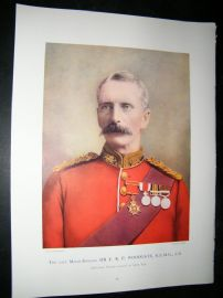 Late Maj-Gen E.R.P Woodgate 1900 Military Portrait Print. Boer War